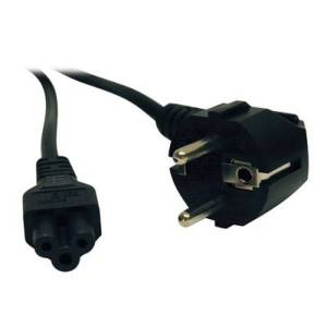 2-Prong European Computer Power Cord (C5 to SCHUKO CEE 7/7), 6-ft.