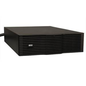 240V external battery pack (expandable). 3U rackmount or tower. BLACK 3-point battery connector for SU models.