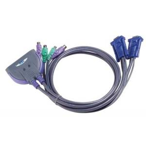 2 PORT KVM SWITCH FOR PS2 W/0.9m