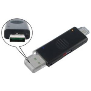 CardReaders External OTG / USB 2.0 Card Reader and Power & Sync KeyChain Adapter (UCR02A) OEM {50}