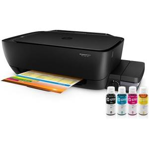 HP Ink Tank 319 AiO Printer (p/c/s, A4, 4800x1200dpi, CISS, 8 (5)ppm, 1tray 60, USB2.0, 1y war, cartr. B 15K & 8K CMY in box, repl. X3B11A)
