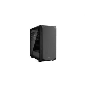 be quiet! PURE BASE 500 BLACK WINDOW / ATX, tempered glass side panel / 2x Pure Wings 2 140mm / BGW34